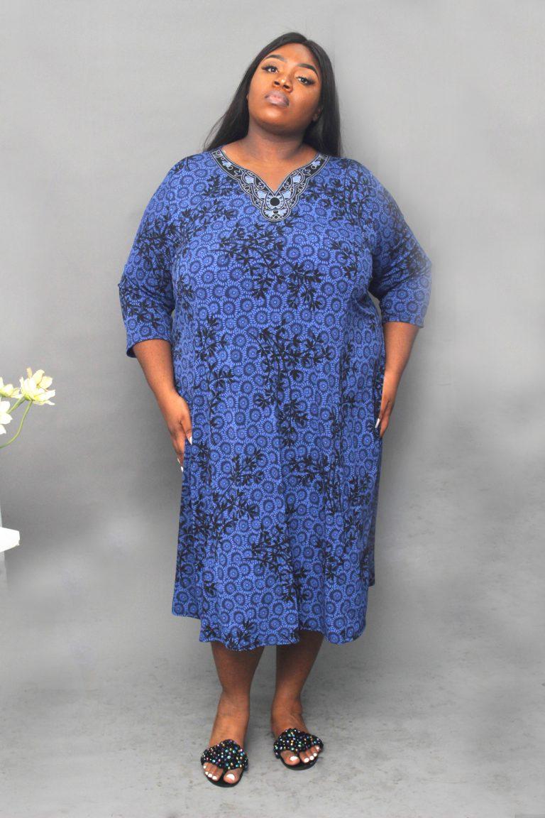 NAVY TUNIC DETAIL DRESS