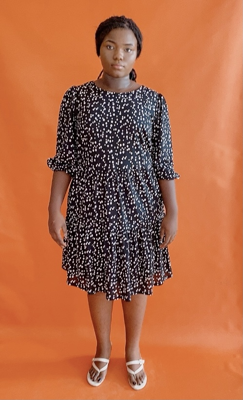 Polkadot Shift Dress