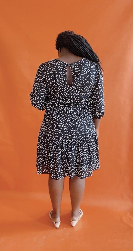 Plus Size Polkadot Swing Dress