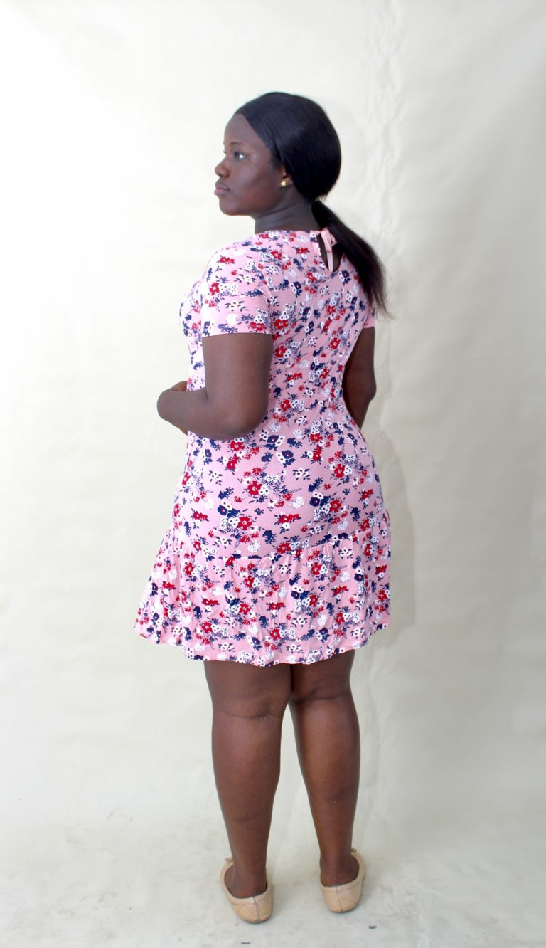 PINK FLORAL SWING DRESS - LC AND CHEEKS CUTE CLUB