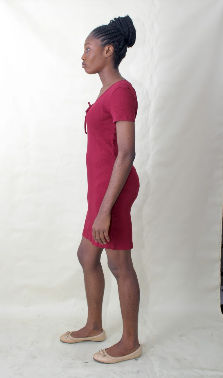 RED LACE UP MINI DRESS - CUTE CLUB BY LC AND CHEEKS