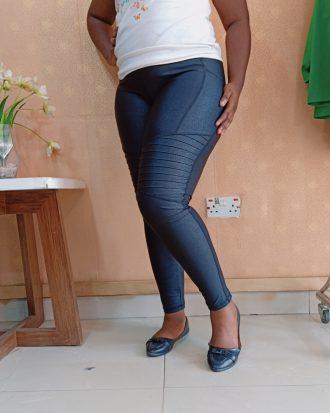 Black Leathered Jeggins