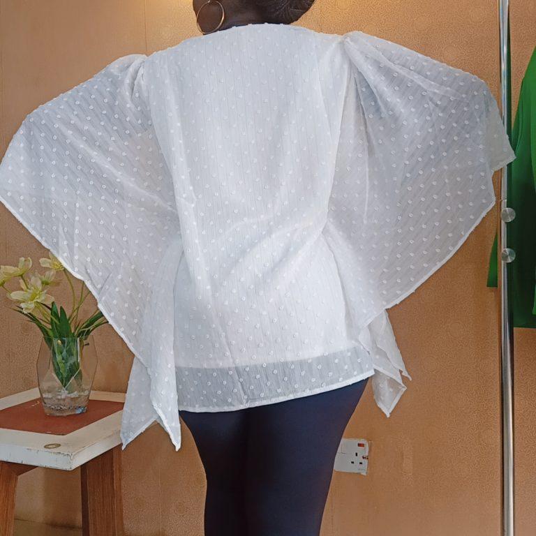 White Bat-wing Top