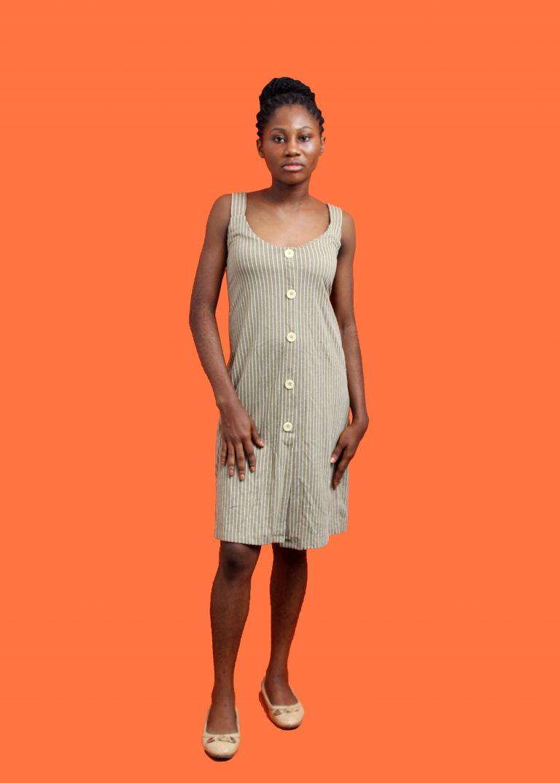 Brown button down dress
