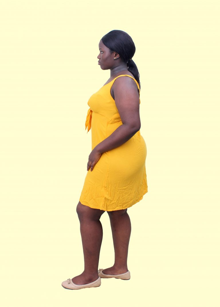 Mustard knotted dress