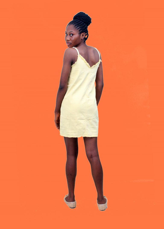 Yellow Denim Dress