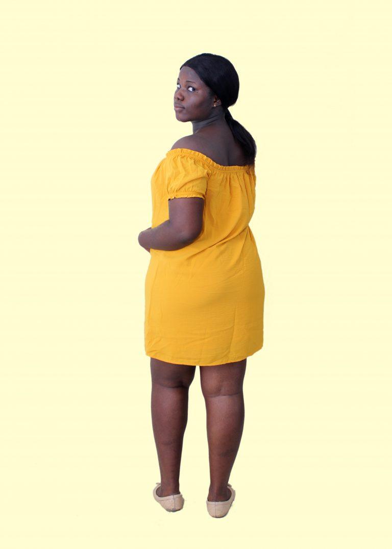 Mustard Swing Dress - LC and Cheeks Shop