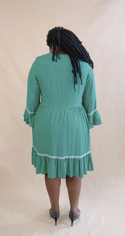 GREEN FRILLY DRESS