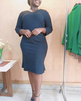 Black Midi Work Dress