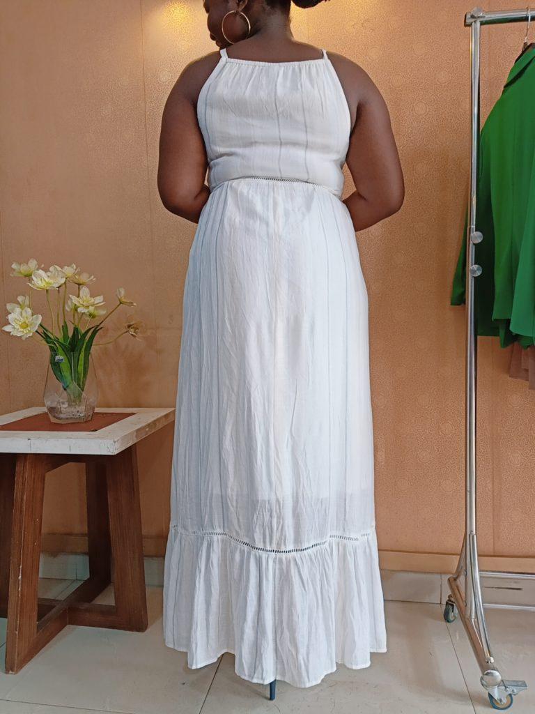 White Sleeveless Maxi Dress